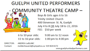 Community theatre camp